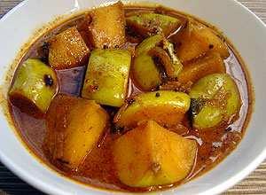 Green Apple Curry : Sri Lanka Recipes : Malini's Kitchen