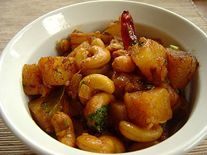 pineapple and cashew nut sterfry